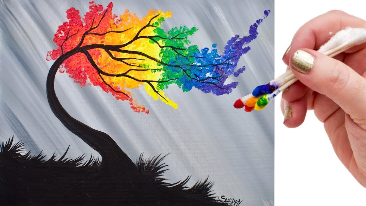 Rainbow rainbow loom hibiscus bracelet diy rainbow for Acrylic painting on paper tips
