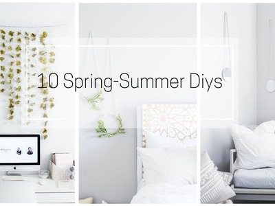 SPRING SUMMER 10 DIYS DECOR IDEAS