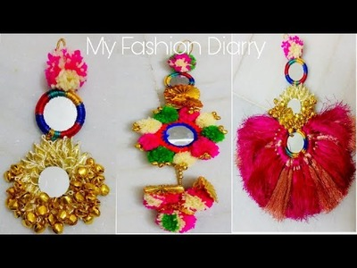 3 typs of beautiful latkans tutorial easy,{do it yourself} with lots of ideas
