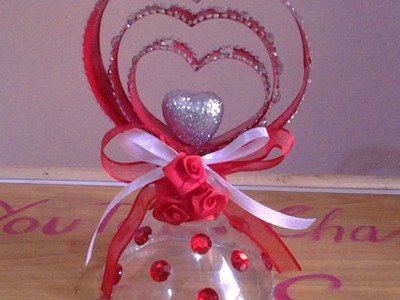 Best Out Of Waste Plastic Pretty Heart Showpiece