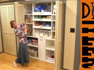 Built In Pantry with Drawers   Kitchen Organization   How To