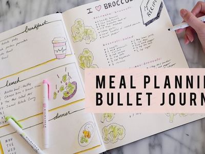 Bullet Journal Set Up | How To Meal Plan | ANN LE