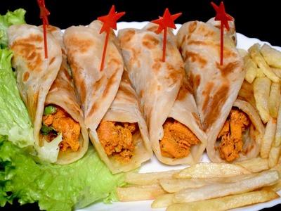 Chicken Paratha Roll - Kids Lunch Box Idea - Breakfast Recipe