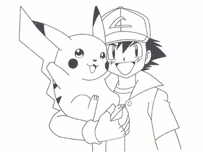 Coloring book Pikachu and Moto, Coloring for Kids, Art Colors for Kids, Learn Colors