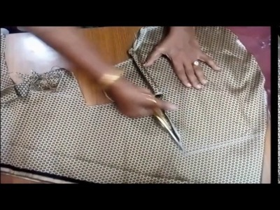 Cross Cutting Blouse method | Blouse Cross Cutting in Tamil |  How To Cut Cross Cutting Blouse