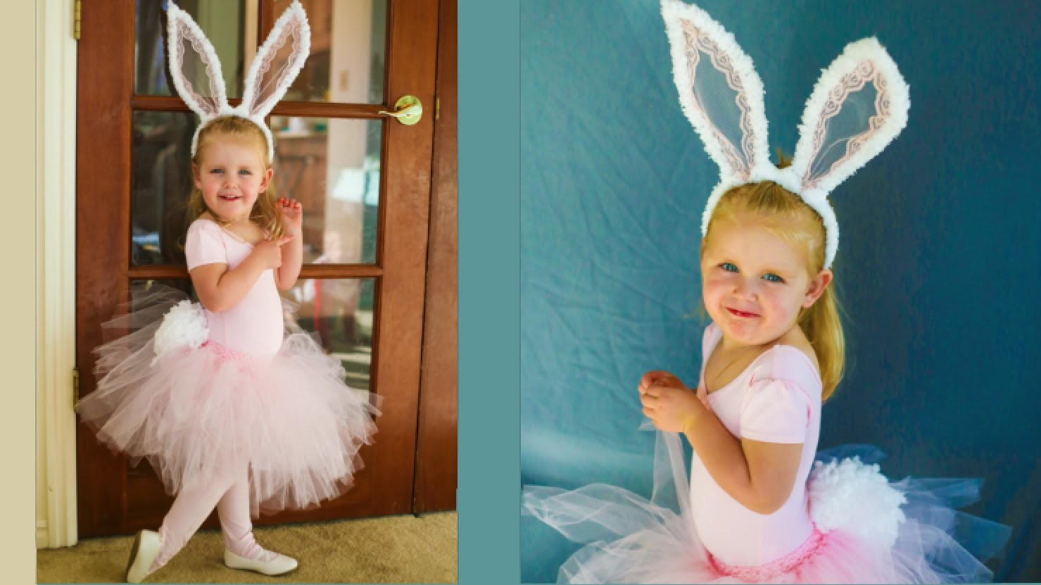 Cute Easter Bunny Costume! NO SEW Tutorial!