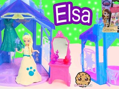 Disney Frozen Queen Elsa MagiClip Doll Flip 'N Switch Castle Playset + LPS Surprise Blind Bag