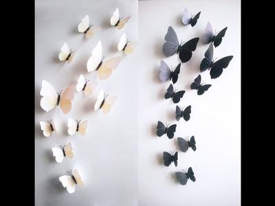 DIY  Butterflies Wall Decor   Wall Decor IDea   How to cut paper butterflies .