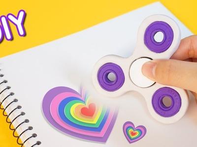 DIY Fidget Spinner Eraser?! School Supplies!! RiaRua