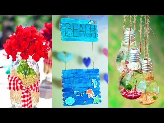 DIY ROOM DECOR! 6 Easy Crafts Ideas for Summer Home