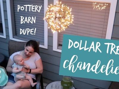 DOLLAR TREE Pottery Barn Inspired Outdoor Lighting | Pendant Chandelier