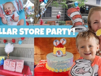 Dr. Seuss Birthday! ❤️ DOLLAR TREE PARTY Ideas, DIYs & More!