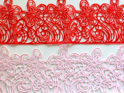Easy Edible Sugar Lace from Scratch