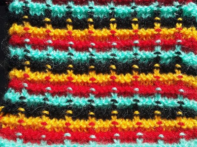 Easy Multi Colour Design for Baby Sweater and Cardigan