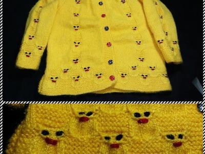 Easy rabbit design on baby sweater(खरगोश का प्यारा सा डिजाईन हिंदी में)