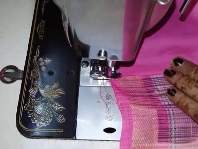 Fall & Pico (Peeko) quick stitching on Saree (साड़ी पर फॉल और पीको लगाना)