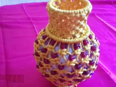 Full Making Tutorial of Easy Macrame Flower Pot  Design#1  DIY Macrame Flower Vase