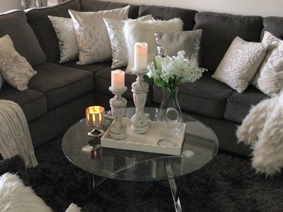 ✨Glam Living Room Tour✨.Small Luxury Apartment Home