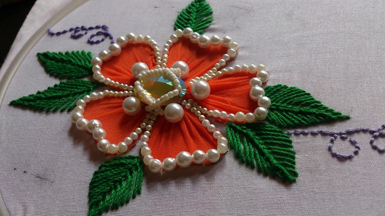 Hand Embroidery Designs Hand Embroidery For Beginners Flower