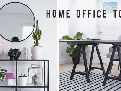 Home Office Room Tour + Desk Decor 2017 ???? | ANN LE