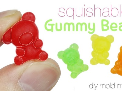 How to DIY Squishy.Squishable Gummy Bear Toy Tutorial
