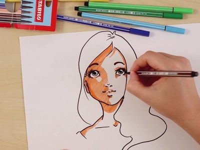 How to draw a manga (STABILO Tutorials, intermediate)