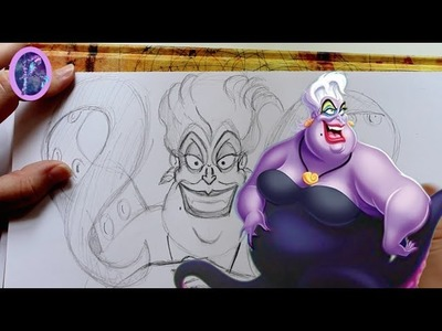 How to Draw URSULA from Disney's The Little Mermaid - @dramaticparrot