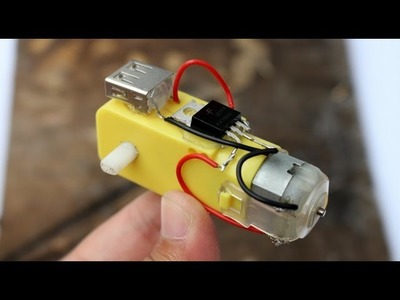 How To Make a Mobile Charger Using DC Motor