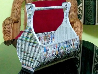 How to make a newspaper rack. holder