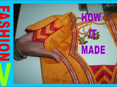 How to make designer blouse at home-45||Designer Bridal butterfly designer hand