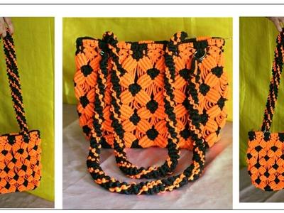 How to Make Handmade Macrame Bag full step by step video tutorial| Easy Macrame Bag