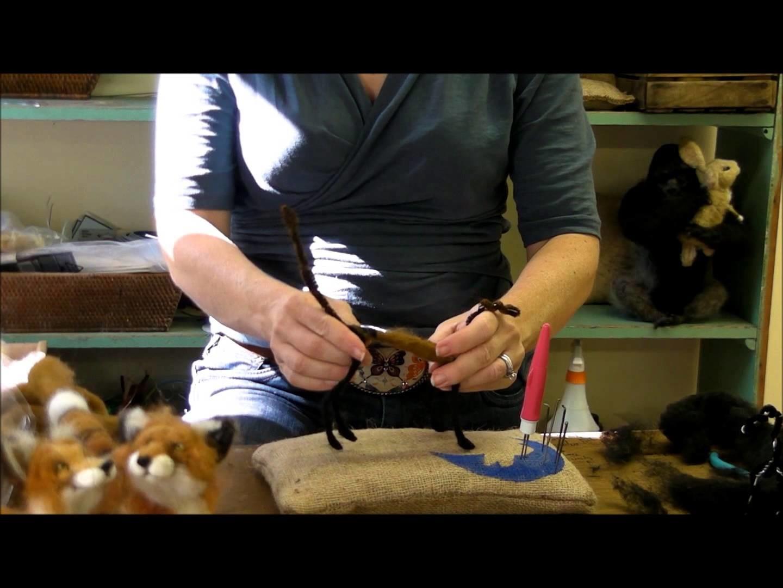 How To Needle Felt Animals - Fox Series 2: Wrapping by Sarafina Fiber Art