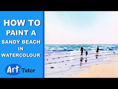 How to paint a Sandy Beach in Watercolour