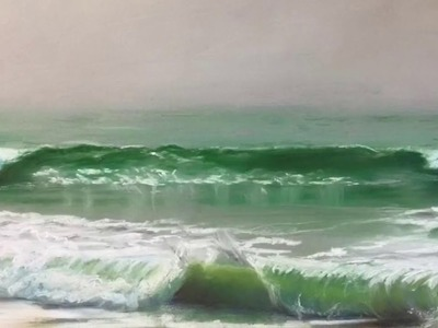 How To Start A Pastel Painting with a Realistic Seascape