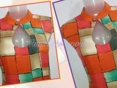 Kurtis Collar Neck Designs - Cutting and Stitching in Hindi.Urdu