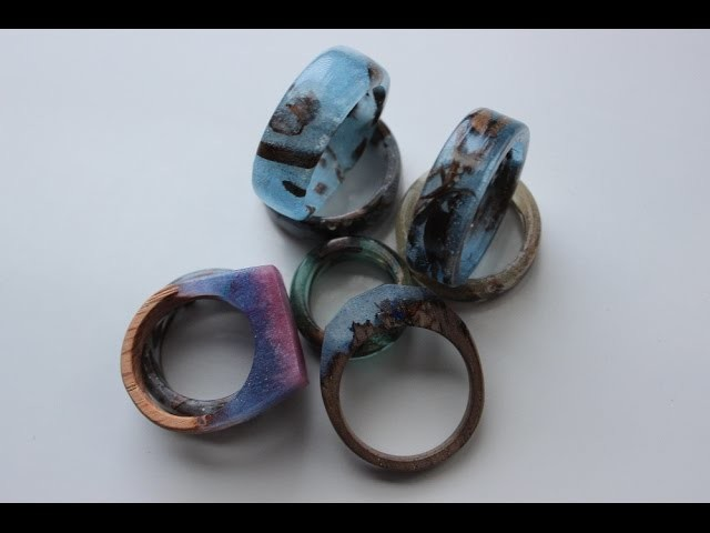 Making epoxy and wood rings my crafts and diy projects for How to make a wooden ring