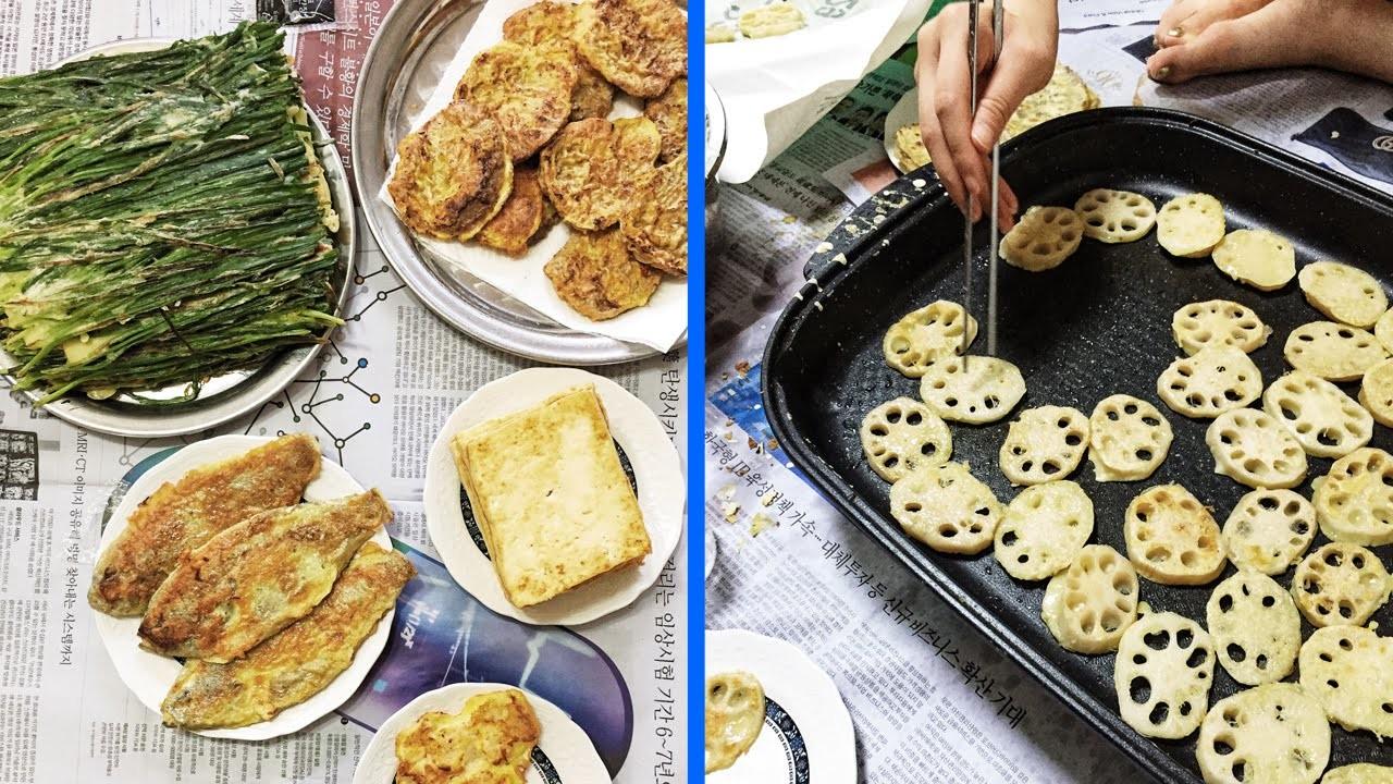 Making Jeon: Korean Pancakes ♦ How I Spent Chuseok with My Family in Korea