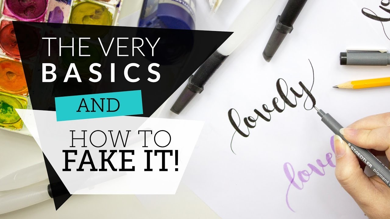 Modern calligraphy the basics faking it my crafts and Calligraphy basics