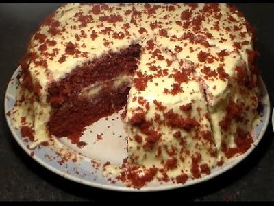 Moist RED Velvet CAKE For Valentine's Day: Homemade Red Velvet Cake From Scratch