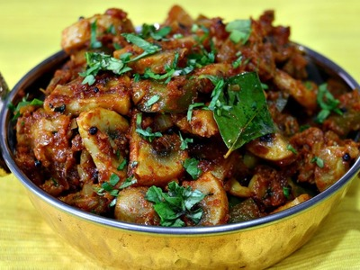 Mushroom Masala - Indian Recipe Under 20 mins
