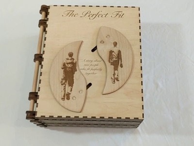 My gf loves fairytales. To propose I built her this fairytale storybook with secrets inside