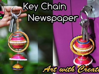 Newspaper Key Chain | Key Holder | Best out of Waste | Art with Creativity 173