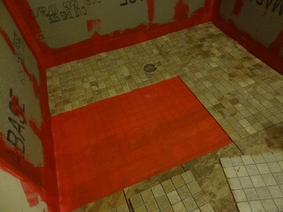Part (2) How to build and tile curbless ( handycap ) walk -in shower.