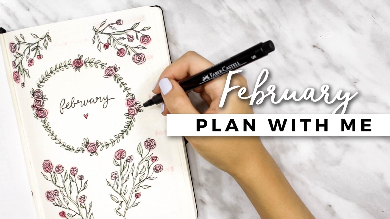Plan With Me February 2017 Bullet Journal Setup My