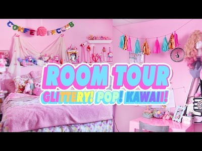 ♡ ROOM TOUR   MY GLITTERY POP KAWAII ROOM ♡