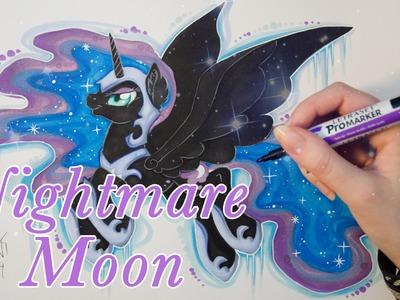 Speed Drawing MLP - Nightmare Moon