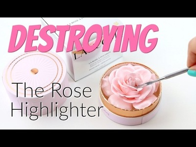 THE MAKEUP BREAKUP - Destroying, weighing & pressing the Lancôme La Rose À Poudrer