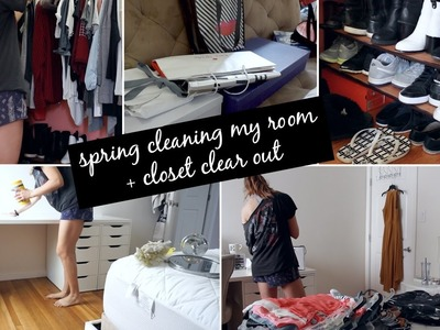 Timelapse: Spring Cleaning My Room + Closet Clear Out || Eliana Jalali