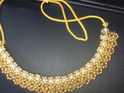 পুতির নেকলেস.How to make beaded necklace.