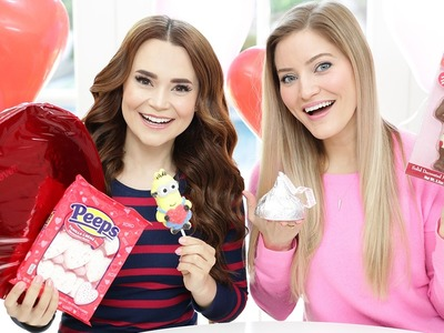 TRYING FUN VALENTINES CANDY w. iJustine!